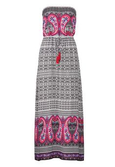 Perfect-for-Summer Flowy Dresses: ethnic print maxi dress with paisley #maurices