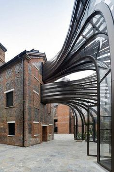 Fashion and architecture building Futurism art bridge