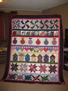 I think a row by row quilt would be fun