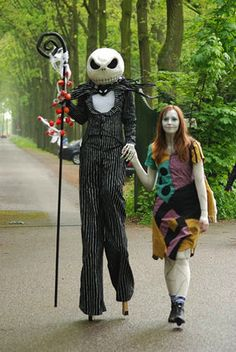 Epic Jack Skellington & Sally Cosplay