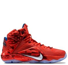 new arrival a2a62 b6491 Nike Lebron XII - of July Light Crimson White Bright Crimson Midnight Navy