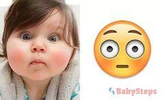 #Carinhas #babysteps #infográficos #bebés #crianças #assustado #admirado #smiles