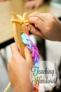 Why teaching handwork is important in a kindergarten classroom