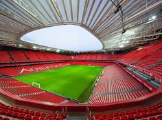 Completed in 2014 in Bilbao, Spain. Images by Airtor Ortiz. Athletic Club of Bilbao is one of the big clubs in European football and its previous stadium, over a hundred years old, was one of the legendary. Soccer Stadium, Football Stadiums, Stadium Architecture, Modern Architecture, San Mamés, Arsenal Stadium, Leonel Messi, Athletic Clubs, Basque Country