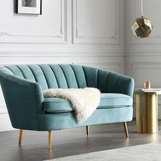 Choose a sofa that stands on your living room as an art piece. Explore more statement options. Art Deco Sofa, Art Deco Living Room, Living Room Chairs, Dining Chairs, Couch Furniture, Plywood Furniture, Furniture Design, Sofa Chair, Velvet Furniture