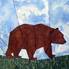 BROWN BEAR paper pieced by Claudias Quilts ~ Big Quilt of Nature
