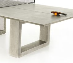 If It's Hip, It's Here: Modern Concrete & Steel Ping Pong Table Doubles As Indoor/Outdoor Dining Table.