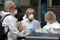 Police forensics officers work outside Arndale Centre shopping complex in Manchester, northwest England on October 11, 2019, following a series of stabbings. - Police arrested a man on terror charges Friday after a mass stabbing at a shopping centre in Manchester, northwest England, that left five people injured. The man in his 40s was 'lunging and attacking people' with a large knife in the Arndale shopping centre, Police Chief Russ Jackson said. The suspect was detained within five minutes