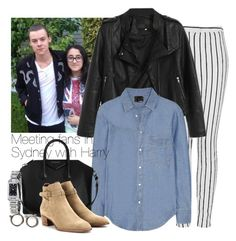 """""""Meeting fans in Sydney with Harry"""" by wkus ❤ liked on Polyvore featuring Topshop, Burberry, Band of Outsiders, Givenchy, Yves Saint Laurent, Marc by Marc Jacobs, OneDirection, harrystyles, 1d and topshop"""