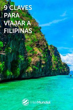 Compuesto por más de 7.000 islas, Filipinas es uno de los países que más crece en número de visitantes. A este destino del Sudeste Asiático no le faltan atractivos: terrazas de arroz, playas paradisíacas, singulares paisajes montañosos, arquitectura colonial, etc. Palawan, Timor Oriental, Asia Travel, Philippines, Hong Kong, Road Trip, World, Water, Fun