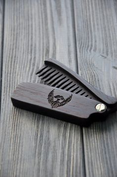 Men gift Wooden Beard Hair Folding Comb Wenge Wood Original gift for Him Dad…