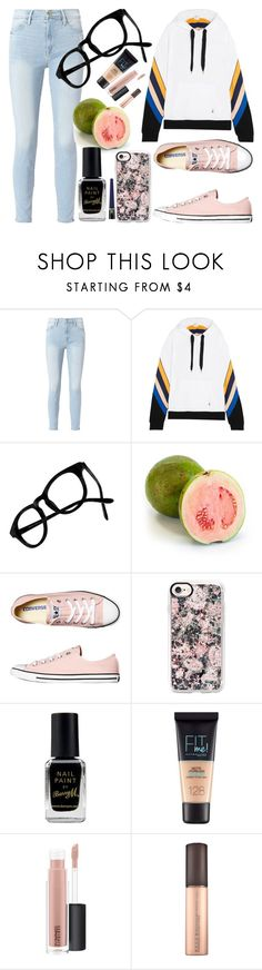 """""""Untitled #1466"""" by cashtonlv on Polyvore featuring Frame, P.E Nation, Madewell, Converse, Casetify, Barry M, Maybelline, MAC Cosmetics and Revlon"""