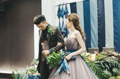 とびきりオシャレな大人婚に。シックでモダンなウェディングの作り方 in 2019 Denim Wedding, Blue Wedding, Wedding Colors, Strapless Dress Formal, Formal Dresses, Wedding Bouquets, Wedding Dresses, Groom And Groomsmen, Simple Weddings