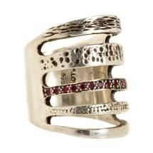 Pamela Love Ruby Single Cage Ring.