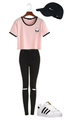 """""""Untitled #2"""" by nina-zajc on Polyvore featuring Topshop, adidas and NIKE"""