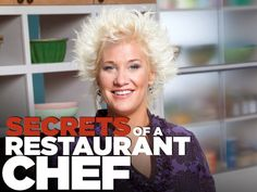 Secrets of a Restaurant Chef ... I love her!!  She talks to her food while she's cooking it and make hilarious noises!