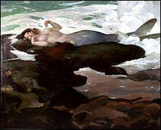Mermaid by Jeff Jones Erik Johnson, Jeff Jones, Frank Frazetta, Merfolk, Mermaid Art, Siren Mermaid, Fantastic Art, Comic Artist, Illustrators