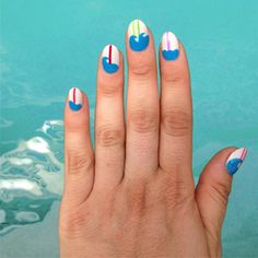 Put a Little Wave in Your Wave with This Surfboard Nail Art