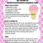 Here is a great recipe to make ice cream in a Ziploc bag with your classroom!!!  This activity works great and the students love to enjoy their ice...