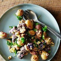Roasted Potato Salad with Mustard-Walnut Vinaigrette