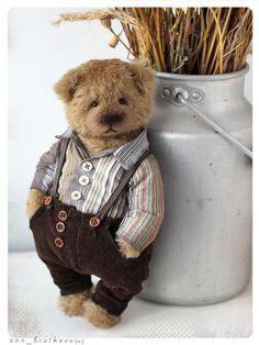 Collectible teddy bear kay by anna bratkova