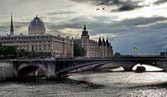 Paris, France  vol au dessus du pont Notre Dame By graindor