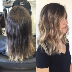 Before & after ✨ #hairbykate #change #balayage #lorealsalon #blonde #olaplex #healthyhair #freshhair #shellharbourhairdresser #behindthechair @chelseahaircutters