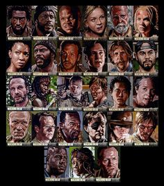 Walking Dead Season 3 Sketch Cards Lee Lightfoot by LeeLightfoot.deviantart.com on @deviantART