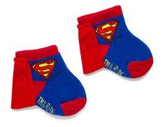 Superhero Superman Infant Caped Socks