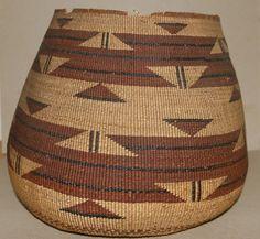 Native American HUPA Karok Indian Basket | eBay