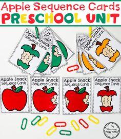Preschool Apple Theme - Color Puzzles #preschool #preschoolworksheets #appletheme #appleworksheets #planningplaytime #sequence Preschool Apple Theme, Apple Activities, Preschool Colors, Autumn Activities For Kids, Fall Preschool, Preschool Classroom, Preschool Worksheets, Preschool Activities, Preschool Apples