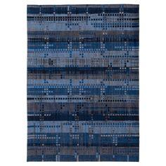 Mad Men 8426 Rockefeller Blue Rug Louis de Poortere Rug Size: Rectangle 280 x Dark Blue Rug, Silver Grey Rug, Mad Men, Color Of The Day, Lodge Style, Gold Rug, Red Rugs, Blue Rugs, Pink Rug