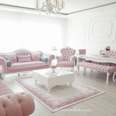 Pastel pink lounge sitting room thats fit for a princess! Royal classic elegance… Pastel pink lounge sitting room thats fit for a princess! Royal classic elegance and style Living Room Sofa Design, Living Room Decor Cozy, Chic Living Room, Home Living Room, Living Room Designs, Bedroom Decor, Pastel Living Room, Drawing Room Furniture, Home Decor Furniture