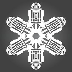 @Jackie Sandoval - from Dude Craft: Star Wars Paper Snowflake Templates