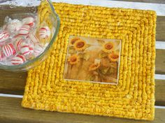 Sunflower Trivet Locker Hooked Locker Hooking by FarmCountryCrafts, $14.00