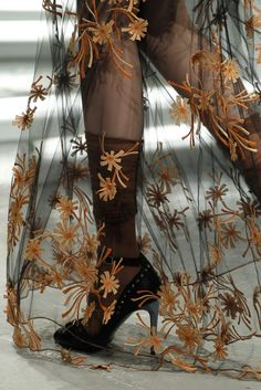 Rodarte f/w 2014. Interesting approach. Use leather, felt, thread to achieve this?