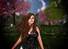 Spring In My Back Yard  By Angel L'Amour