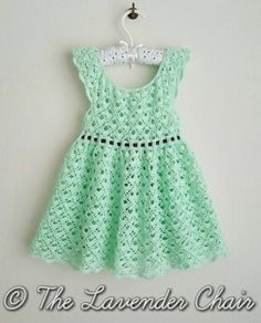 [Free Pattern] Adorable Lace Toddler Dress - http://www.dailycrochet.com/free-pattern-adorable-lace-toddler-dress/