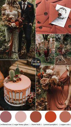 Burnt Orange Peach and Plum Wedding - Autumn Weddings