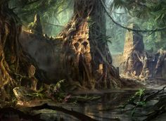 Swamp (Temple) by AdamPaquette.deviantart.com on @DeviantArt