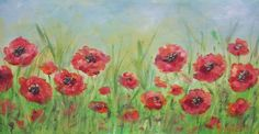 Poppy Field Painting - Live Stream Acrylic Lesson with Angela Anderson