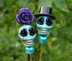 Made to Order The Original Day of the Dead lapel pin Bouquet pin Bride Groom pin