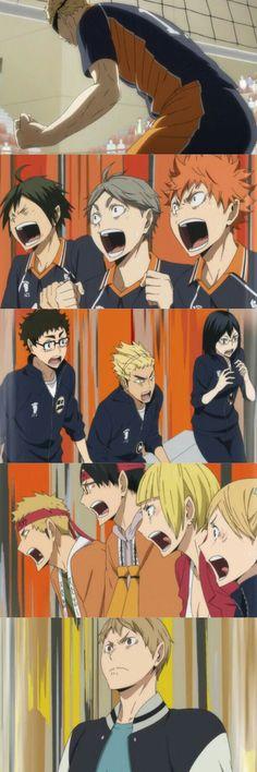 Haikyuu episode 4 season 3 tsukishima block reaction BEST EPISODE EVAH