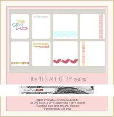 """Free Printable """"Girly"""" Cards (Smitha Katti)"""