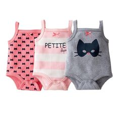 Pack of 3 Bodysuits with Straps