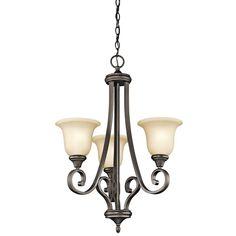 Kichler 43155OZL16 - Monroe Chandelier 3Lt LED in Olde Bronze
