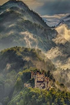 Hohenschwangau Castle. It's a 19th-century palace in southern Germany. It was the childhood residence of King Ludwig II and was built by his father, King Maximilian II of Bavaria. I WILL go back to Germany and Bavaria is my next destination.