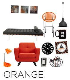 """Orange Black 3 @nc4you"" by nc4you on Polyvore featuring interior, interiors, interior design, Zuhause, home decor, interior decorating, Coqui Coqui, Alessi, Innit und NuCasa"