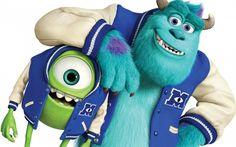 Inside the Monster's Studio: New Pixar video shows all Disney Monsters, Monsters Inc, Funny Monsters, Famous Cartoons, Funny Cartoons, Mike And Sully, Disneyland California Adventure, Mickey Mouse Cartoon, Monster University