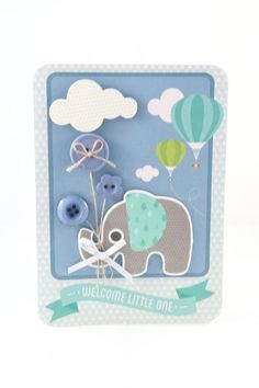 We are jumping all over the place this month, but I found a baby Boy card I made with kaisercraft Little one paper and collectables that I forgot to post.I used and elephant collectable on a card f...